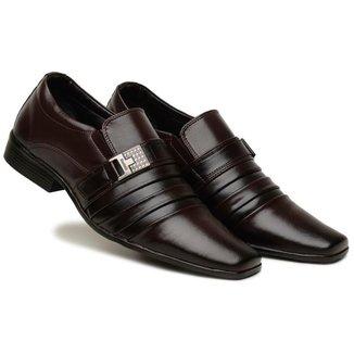 Sapato Social Masculino Elástico Metal Confortável Moderno