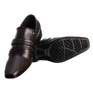 Sapato Social Masculino Elástico Metal Conforto Elegante