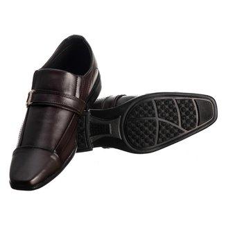 Sapato Social Masculino Elástico Metal Conforto Moderno