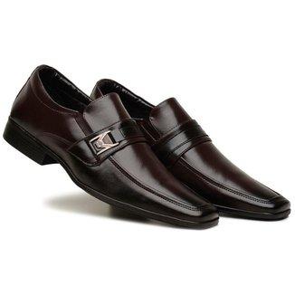 Sapato Social Masculino Elástico Metal Leve Macio Conforto