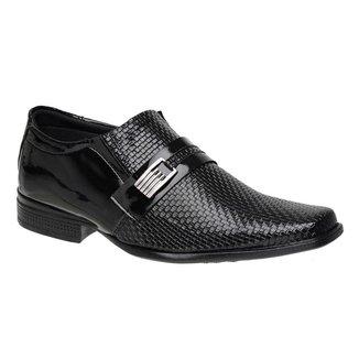 Sapato Social Masculino Elástico Textura Macio Confortável