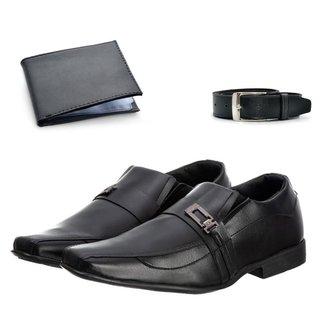 Sapato Social Masculino Elegante Leve + Cinto + Carteira