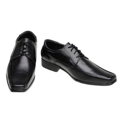 Sapato Social Masculino em Couro com Cadarço SLZ -