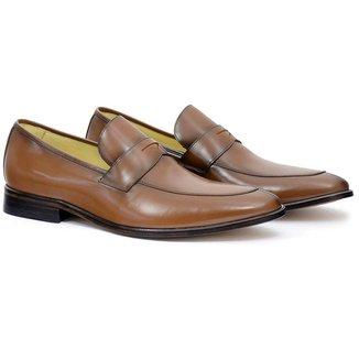 Sapato Social Masculino em Couro Liso Conforto Dia a Dia