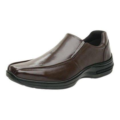 Sapato Social Masculino em Couro sem Cadarço - Café