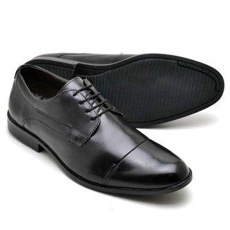 Sapato Social Masculino Em Couro Soft De Amarrar Reta Oposta