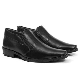 Sapato Social Masculino Fechamento Zíper Clássico Casual