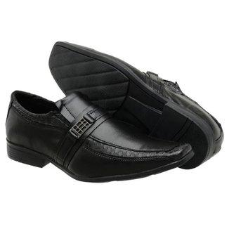 Sapato Social Masculino Fivela Elástico Moderno Elegante