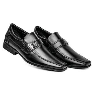 Sapato Social Masculino Fivela Liso Confortável
