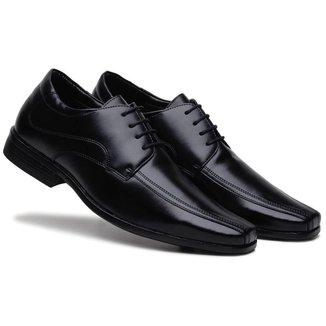 Sapato Social Masculino Liso Cadarço Confortável Dia a Dia