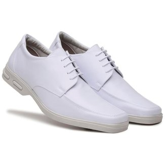 Sapato Social Masculino Liso Cadarço Conforto Dia a Dia
