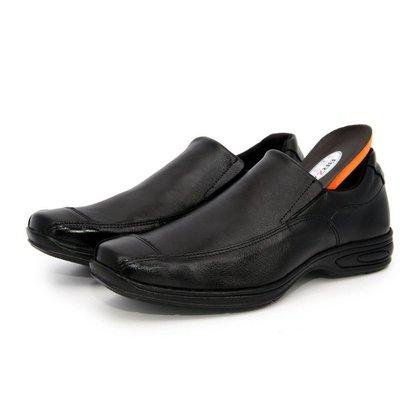 Sapato Social Masculino Liso Comfort Gel Em Couro BR2 Footwear
