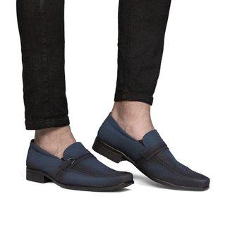 Sapato Social Masculino Liso Elástico Clássico Quadrado