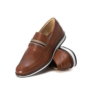 Sapato Social Masculino Loafer Em Couro Castor