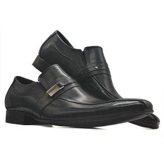 Sapato social masculino loafer fino couro fivela MOD 395
