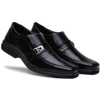 Sapato Social Masculino Metal Elástico Macio Confortável