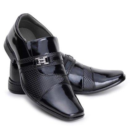 Sapato Social Masculino Metal Leve Elegante Conforto Macio