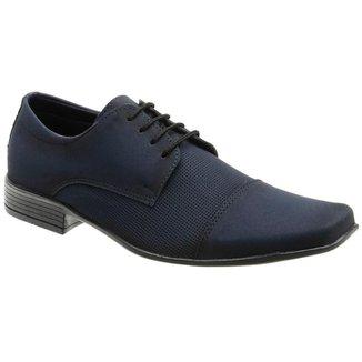 Sapato Social Masculino Nobuck Bico Quadrado Casual Conforto