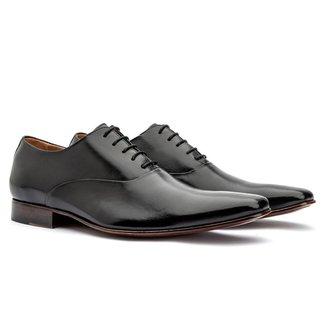 Sapato Social Masculino Oxford Couro Cromo 327