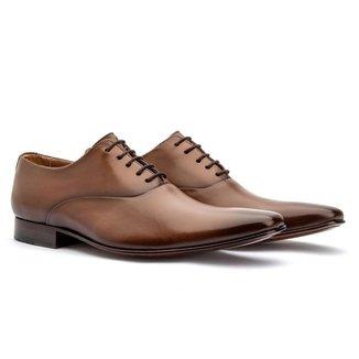 Sapato Social Masculino Oxford Couro Cromo Whisky 327