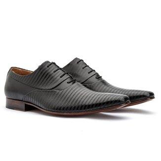Sapato Social Masculino Oxford Couro Frequencia 328