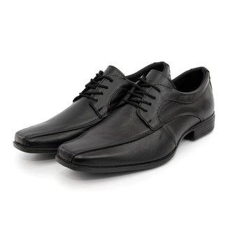Sapato Social Masculino Oxford Couro Liso Amarração Clássico