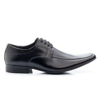 Sapato Social Masculino Preto Em Couro 400