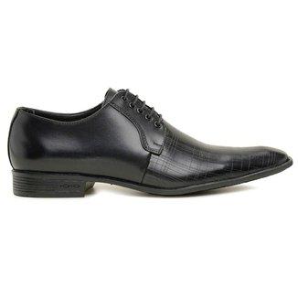 Sapato Social Masculino Preto Em Couro De Amarrar 306