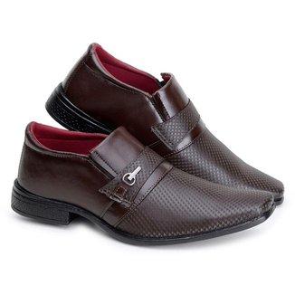 Sapato Social Masculino Quadrado Elástico Conforto Casual