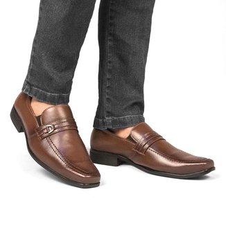 Sapato Social Masculino Quadrado Liso Elástico Clássico