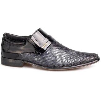 Sapato Social Masculino Rafarillo Cobra Couro Verniz