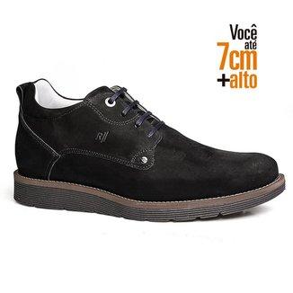 Sapato Social Masculino Rafarillo Couro Aumenta Altura Liso
