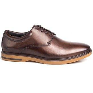 Sapato Social Masculino Rafarillo Couro Cadarço Liso