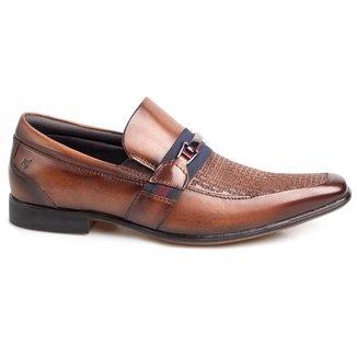 Sapato Social Masculino Rafarillo Couro Liso Bico Quadrado