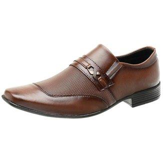 Sapato Social Masculino Roma Shoes em Couro   Masculino