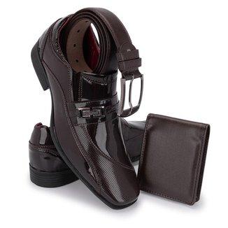 Sapato Social Masculino Schiareli Elegante E Confortável 835 Kit Cinto E Carteira