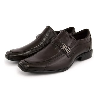 Sapato Social Masculino Sport Fino Casual Em Couro BR2 Footwear Café