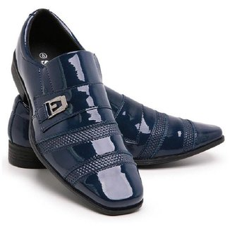 Sapato Social Masculino Verniz Bico Fino 803 GuGi