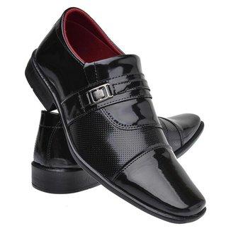 Sapato Social Masculino Verniz Casual Macio Moderno