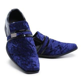 Sapato Social Masculino Verniz Com Veludo Schiareli