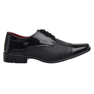 Sapato Social Masculino Verniz Confortável Macio Dia a Dia