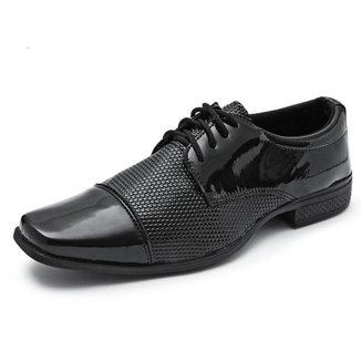 Sapato Social Masculino Verniz Confortável Moderno Estiloso