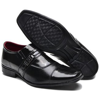 Sapato Social Masculino Verniz Conforto Dia a Dia