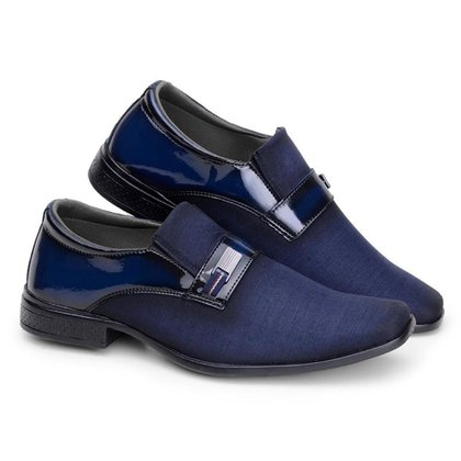 Sapato Social Masculino Verniz Conforto Estilo Macio Leve