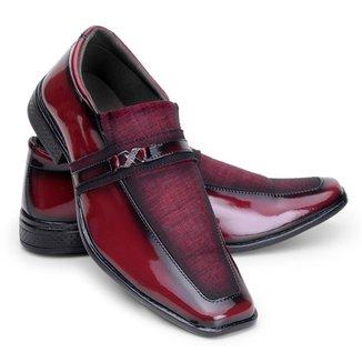 Sapato Social Masculino Verniz Conforto Leve Estilo Macio