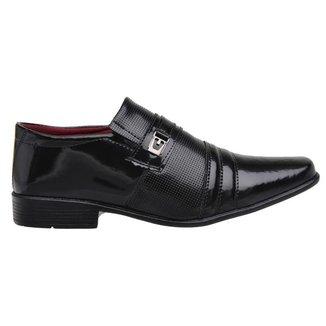 Sapato Social Masculino Verniz Dia a Dia Conforto Elegante