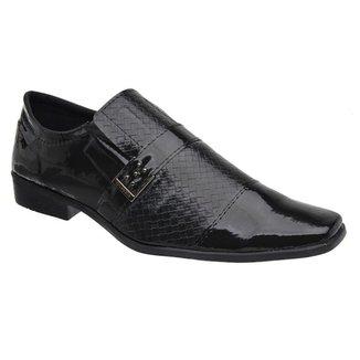Sapato Social Masculino Verniz Elástico Estilo Elegante Leve