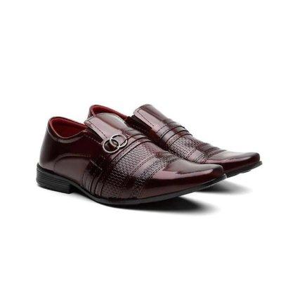 Sapato Social Masculino Verniz Elástico Macio Leve Dia a Dia
