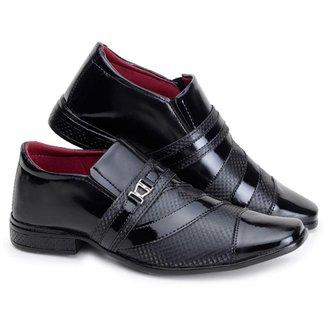 Sapato Social Masculino  Verniz Fivela Conforto Casual