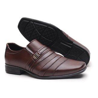 Sapato Social Miletto com Detalhes Exclusivos - Preto Brilhoso